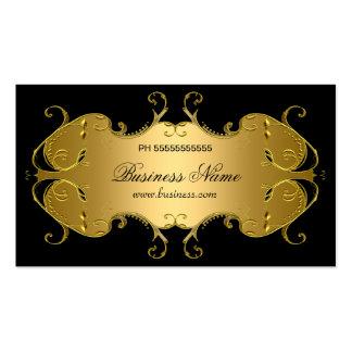 Negocio elegante del oro negro profesional tarjetas de visita