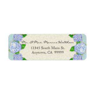 Negocio elegante formal floral del cordón azul del etiqueta de remite