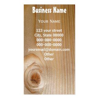 Negocio en la madera inacabada tarjetas de visita
