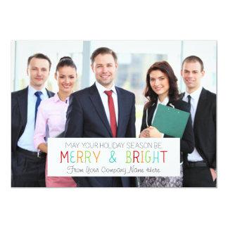 Negocio feliz y brillante de la tarjeta de la foto invitación 12,7 x 17,8 cm