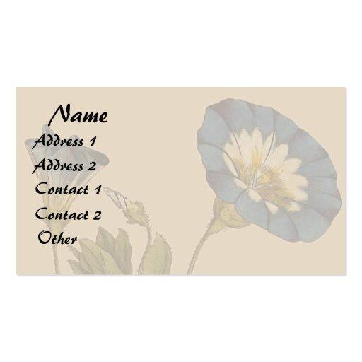 Negocio floral del arte de la correhuela botánica tarjetas de visita