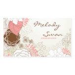 Negocio floral del vintage tarjetas de visita