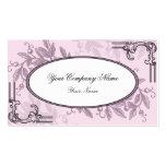 Negocio floral púrpura rosado del vintage tarjeta personal