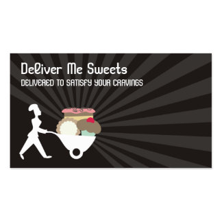 negocio gigante c de los dulces del panadero de la tarjetas de visita
