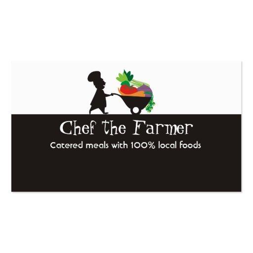 negocio gigante de las verduras del cocinero del h plantilla de tarjeta de visita