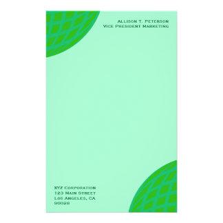Negocio global verde claro personalized stationery