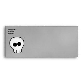 Negocio gótico lindo de Halloween del cráneo clasi Sobre