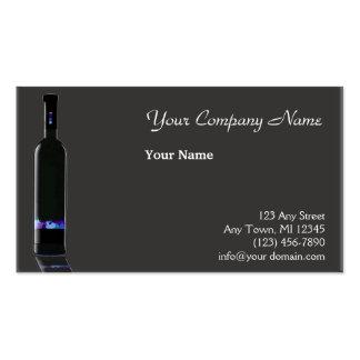 Negocio gris y negro de la botella de vino tarjetas de negocios