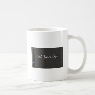 Negocio gris y negro de la botella de vino taza de café