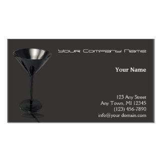 Negocio gris y negro del vidrio de Martini Plantilla De Tarjeta Personal