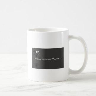 Negocio gris y negro del vidrio de Martini Tazas De Café
