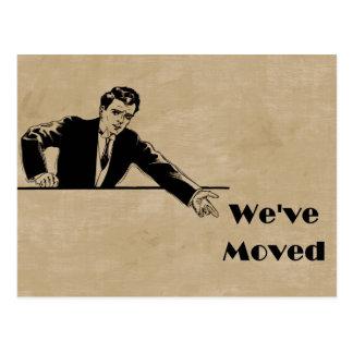 Negocio hemos movido la tarjeta de la invitación tarjetas postales