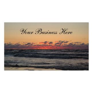 Negocio hermoso de la línea de la playa de la pues tarjeta de visita