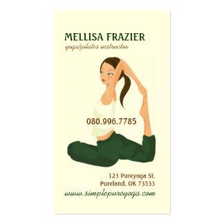 Negocio/instructor de la meditación de Pilates de  Tarjeta De Visita