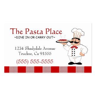 Negocio italiano de la pizza del restaurante el | tarjetas de visita