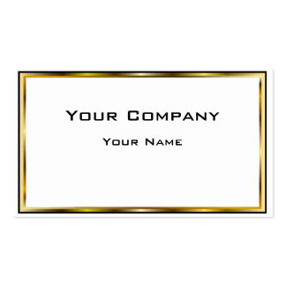 Negocio mínimo del negro de la frontera del oro do plantilla de tarjeta personal