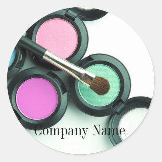 negocio moderno del artista de maquillaje pegatinas redondas