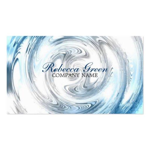 negocio moderno del extracto del agua azul promoci plantilla de tarjeta de visita