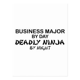 Negocio Ninja mortal importante por noche Tarjetas Postales