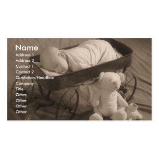 Negocio o invitación del bebé tarjetas de visita