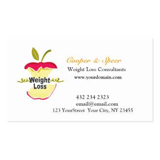 Negocio original único del nutricionista el plantillas de tarjetas de visita