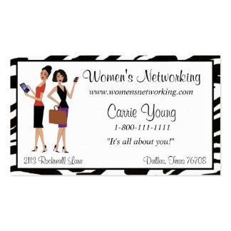 Negocio para mujer y establecimiento de una red plantilla de tarjeta de negocio