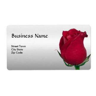 Negocio personal elegante de la etiqueta del rosa  etiquetas de envío