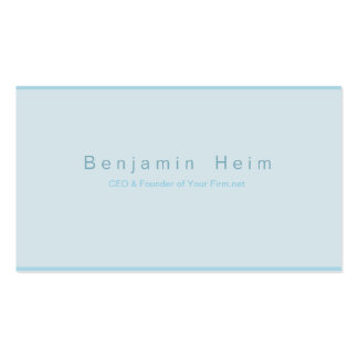 Negocio profesional tarjetas de presentación azul  tarjeta de visita