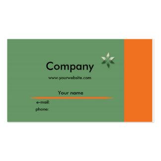 Negocio profilecard - horizontalmente tarjetas de visita