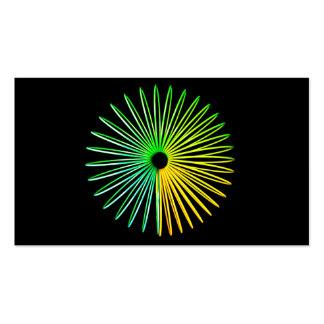 Negocio psicodélico abstracto de la ilusión óptica tarjetas de visita