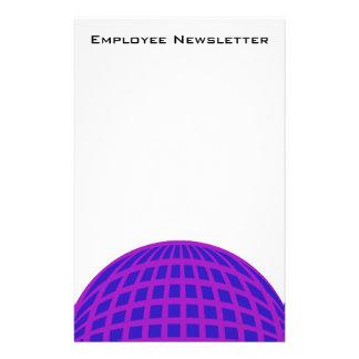 Negocio púrpura brillante del globo del círculo co tarjetas informativas