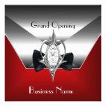 Negocio que abre la joya de plata roja del diamant comunicados