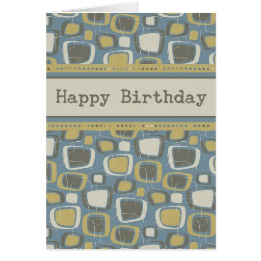 Negocio retro de la tarjeta de cumpleaños del grup