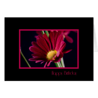 Negocio rojo de la flor de la tarjeta de cumpleaño