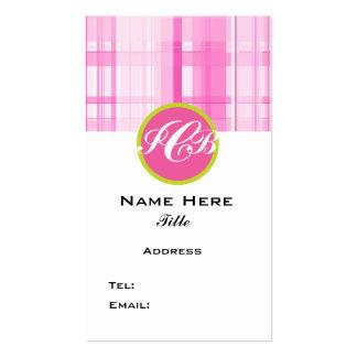 Negocio rosado de la tela escocesa, tarjeta del tarjetas de visita