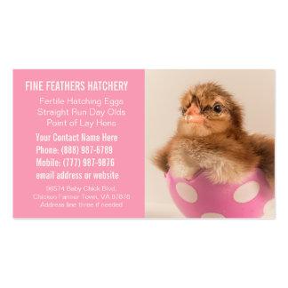 Negocio rosado del criadero del polluelo para las  tarjeta de visita