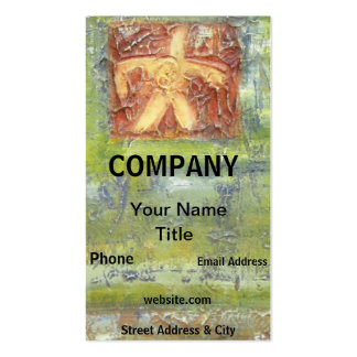 Negocio rústico moderno del extracto del verde del plantillas de tarjetas personales