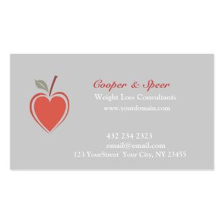 Negocio sano del corazón tarjetas personales
