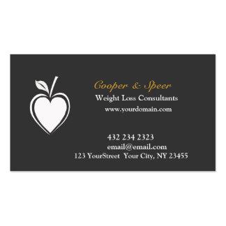 Negocio sano del nutricionista el dietético del tarjetas personales