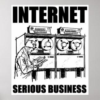 Negocio serio del Internet Posters
