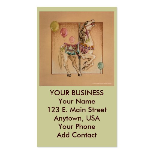 Negocio - tarjeta del perfil - carrusel feliz del tarjetas de visita