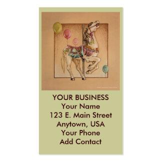 Negocio - tarjeta del perfil - carrusel feliz del  plantilla de tarjeta de negocio
