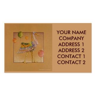 Negocio - tarjeta del perfil - cigüeña del carruse tarjetas personales