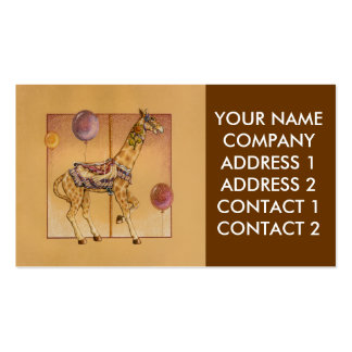 Negocio - tarjeta del perfil - jirafa del carruse tarjetas de visita