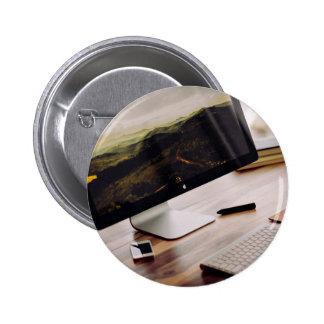Negocio temático, ángulo lateral del escritorio pin redondo 5 cm