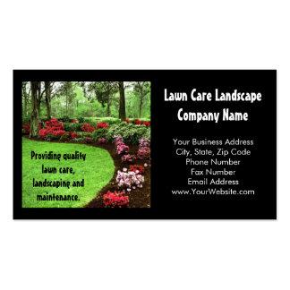 Negocio verde del cuidado del césped del paisaje tarjetas de visita