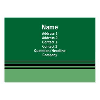 negocio verde tarjetas de visita grandes