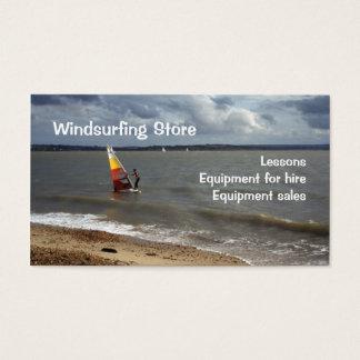 Negocio Windsurfing Tarjetas De Visita