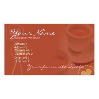 Negocio y tarjeta personal #02 del café