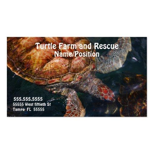 Negocios A020 - Granjas y rescate de la tortuga Tarjetas De Visita